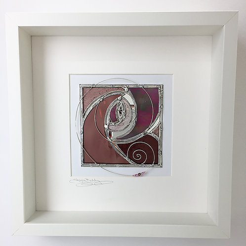 Box Frames - Stained Glass Pink