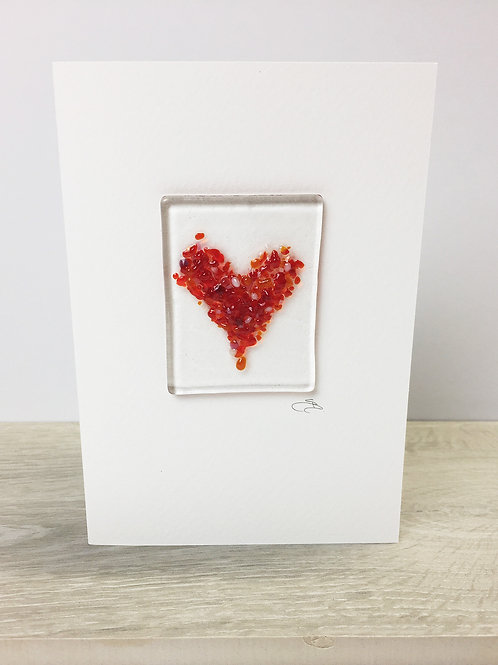 Handmade Cards - Heart Red