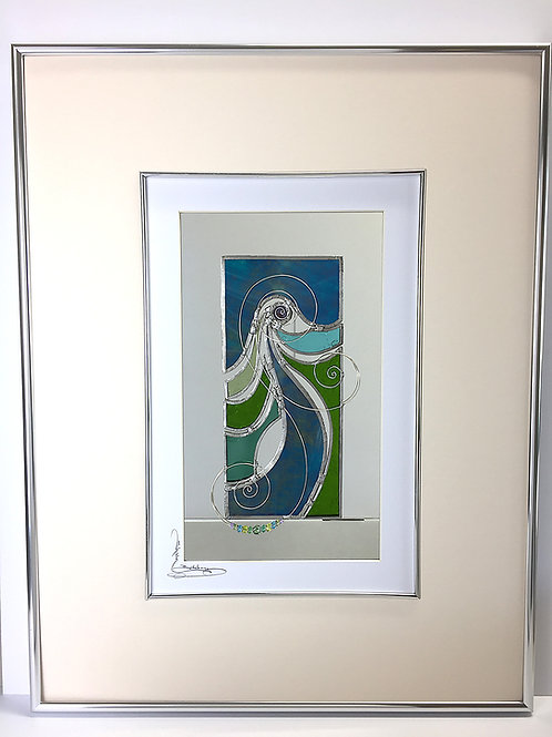 Stained Glass Pictures 43 x 56cm - Green
