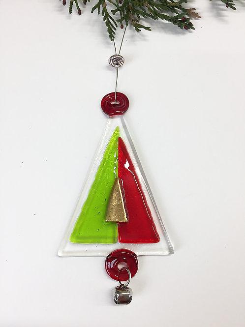 Christmas Decoration - Red and Green DiamondTree