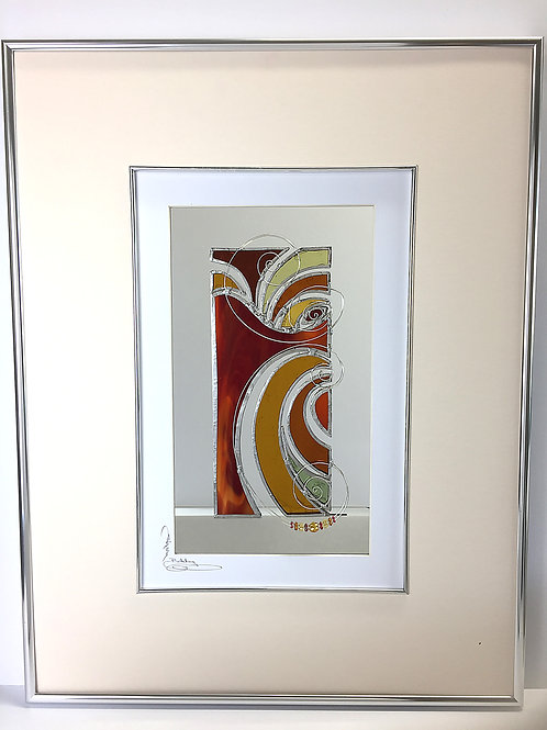 Stained Glass Pictures 43 x 56cm - Red