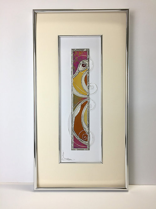 Stained Glass Pictures 25.4 x 48.3cm - Red