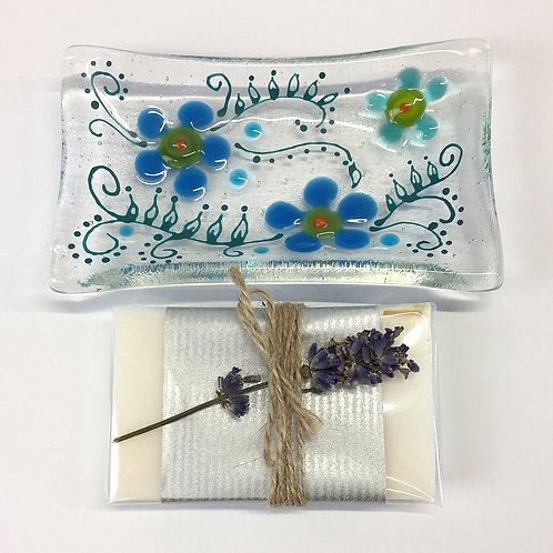 Soap Dishes - Blue Flower