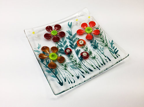 Jewellery Dish - Red Flower