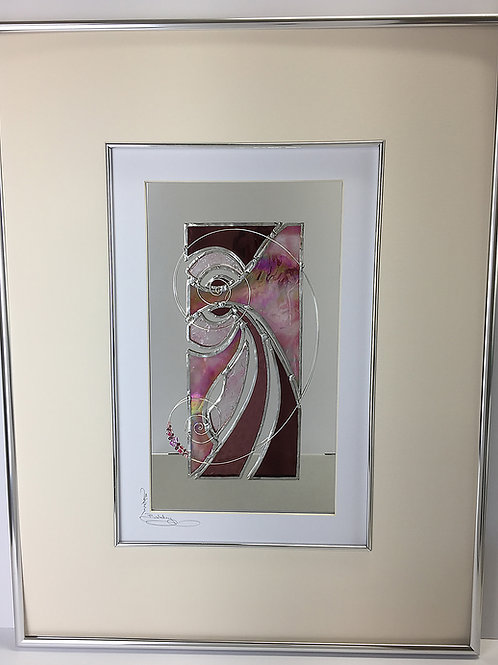 Stained Glass Pictures 43 x 56cm - Pink