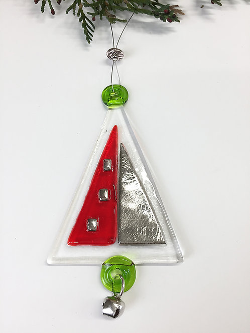 Christmas Decoration - Red and Silver Tree