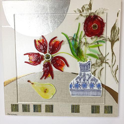 Large Still Life - 'Vivid Red Flowers'