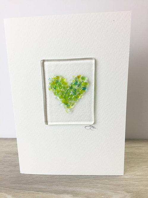 Handmade Cards - Heart Green