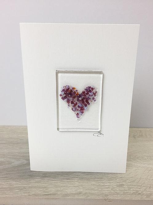 Handmade Cards - Heart Purple