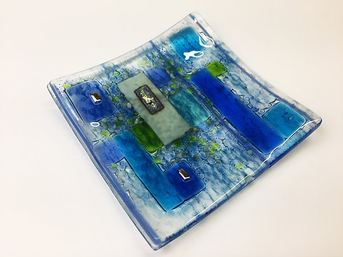 Jewellery Dish - Abstract Blue