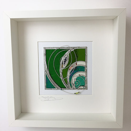 Box Frames - Stained Glass Green