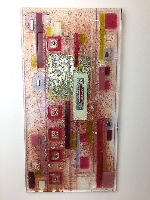 Large Fused Panels - Oblong Pink