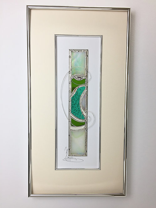 Stained Glass Pictures 25.4 x 48.3cm- Green