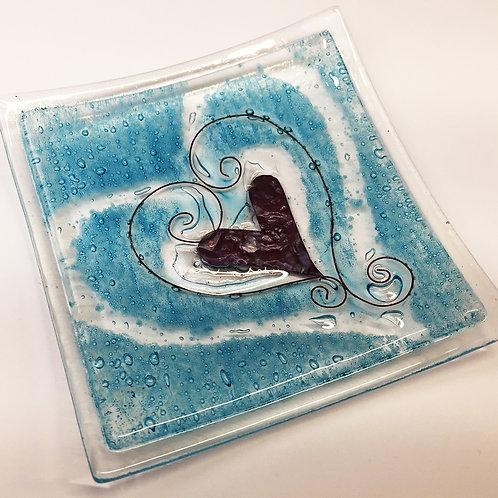 Jewellery Dish - Aqua Bubbles