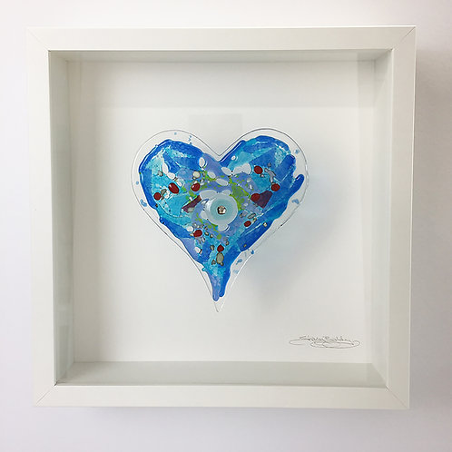 Box Frames -Heart Blue