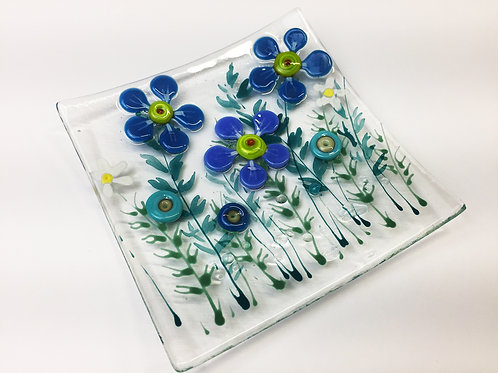 Jewellery Dish - Blue Flower