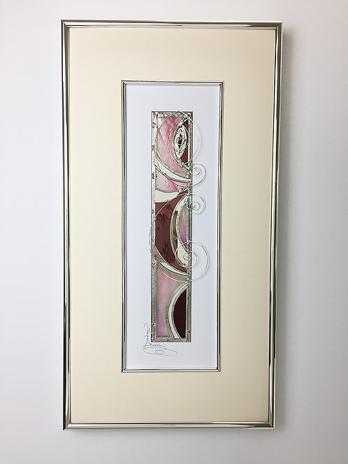 Stained Glass Pictures 25.4 x 48.3cm - Pink