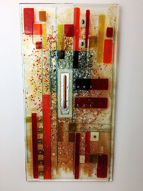 Large Fused Panels - Oblong Red
