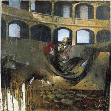 tragédie / huile sur toile 100 x 100 cm