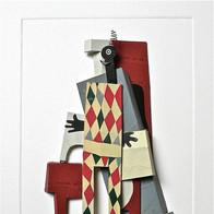 sculpture plomb/étain 85 x 62 x 5 cm
