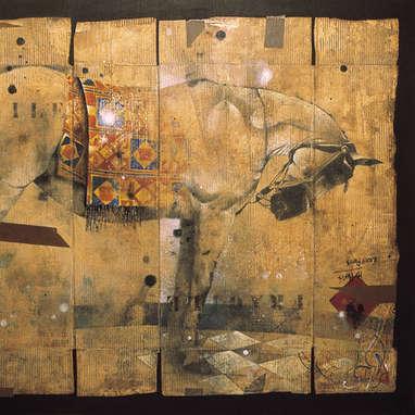 recyclé 1 / huile sur toile 130 x 162 cm