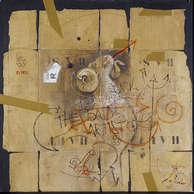 belzébut / huile sur toile 100 x 100 cm