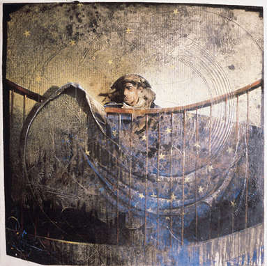 veilleur de nuit / huile sur toile 100 x 100 cm / palais de l'Elysée