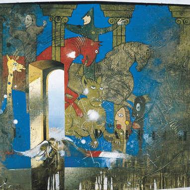 point de vue / huile sur toile 81 x 100 cm