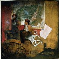 l'ami de vincent : huile sur toile 200 x 200 cm / Château Bordeaux Centre Pompidou