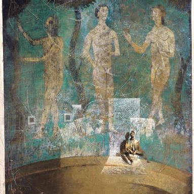 jardin d'hiver / huile sur toile 100 x 81 cm