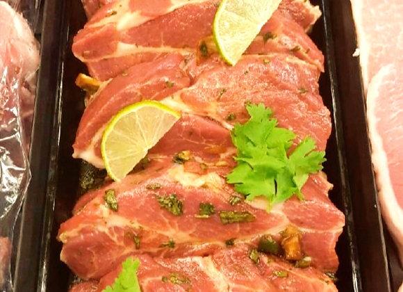 Marinated Pork Capicollo Steaks