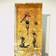 sculpture plomb/étain 185 x 40 x 18 cm