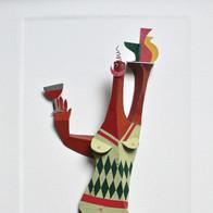sculpture plomb/étain 81 x 62 x 5 cm