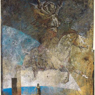 promenade épistolaire 2 / huile sur toile 161 x 114 cm