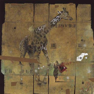 impression d'afrique / huile sur toile 120 x 120 cm