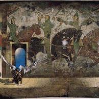 gens d'armes / huile sur toile  81 x 100 cm