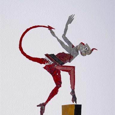 le diable rouge 3 / 61 x 43 cm