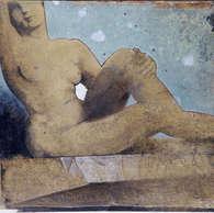 la pose / huile sur toile 81 x 100 cm