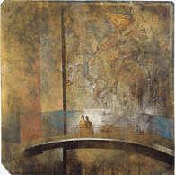 promenade épistolaire 1 / huile sur toile 150 x 150 cm