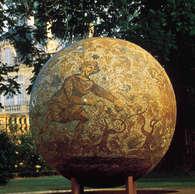 écritures terrestre Ø 200  cm / centre international d'art contemporain Château Beychevelle