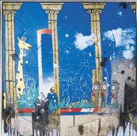 safari / huile sur toile 60 x 60 cm