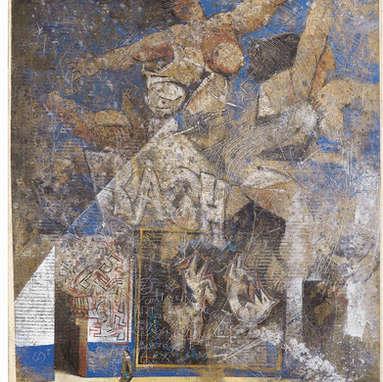 entre temps / huile sur toile 100 x 81 cm
