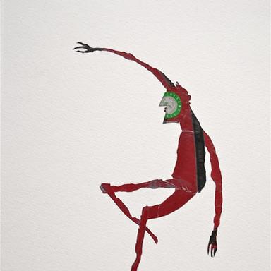 le diable rouge 2 / 61 x 43 cm