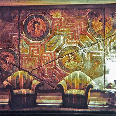 mur peint / hôtel Castille Paris