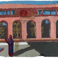 harem collage plomb/étain 8,5 x 13,5 cm