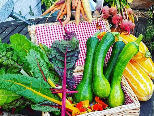 One £6 veg box Collect Friday from 4pm