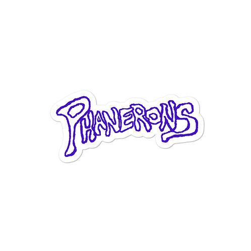 Phanerons Space Purple Sticker
