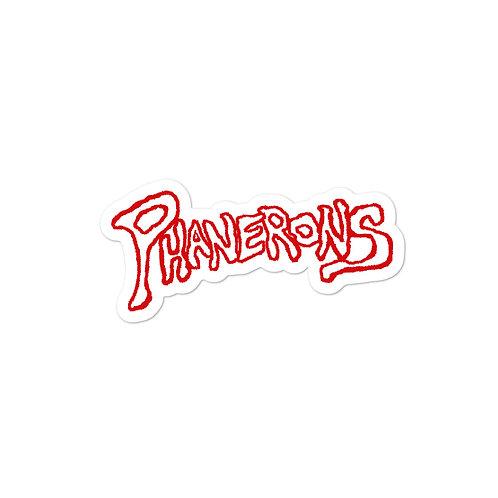 Phanerons Crimson Red Sticker