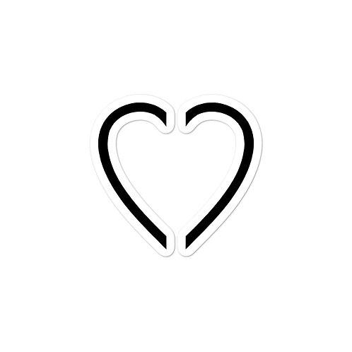 Glass Heart Sticker
