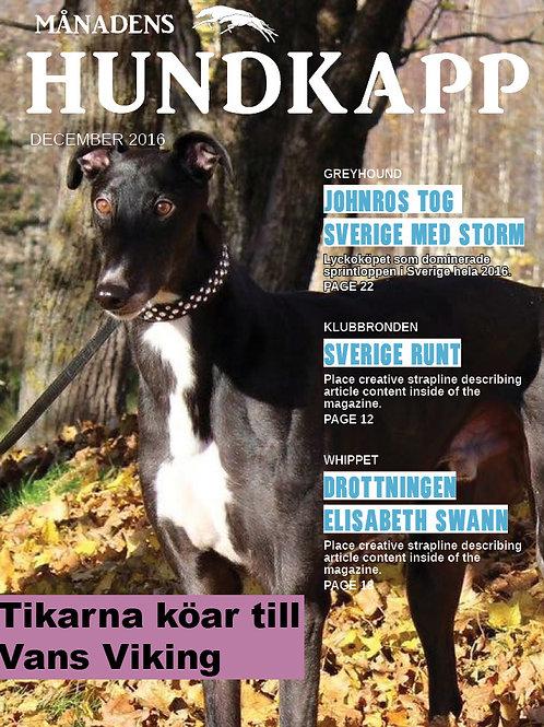 Månadens Hundkapp december 2016 - SLUTSÅLD